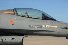F-16驾驶舱特写镜头 免版税库存照片