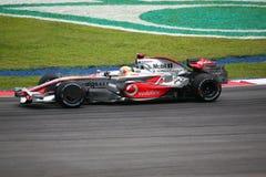f 1 2008 Hamilton Lewis Mercedes mclaren Fotografia Royalty Free