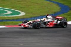f 1 2008 Hamilton Lewis Mercedes mclaren Obraz Royalty Free