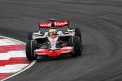 f 1 2008 Hamilton Lewis Mercedes mclaren Zdjęcia Royalty Free
