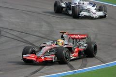 f 1 2008 Hamilton Lewis Mercedes mclaren Fotografia Stock