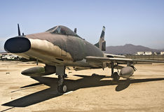 F-100C Super Sabre. This is a picture of a North American F100C Super Sabre.  This fighter jet was used for ground support in Vietnam Stock Image