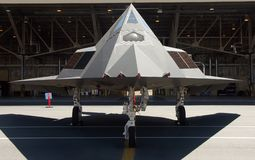 F-117 Stealth fighter. At air force base Stock Photos