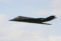 F-117 stealth fighter. In flight Royalty Free Stock Photos