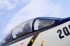 F-14 de cockpit van vechtersvliegtuigen Stock Foto's