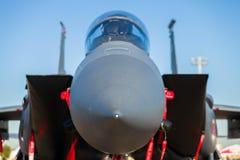 F-15老鹰喷气式歼击机飞机 免版税库存图片