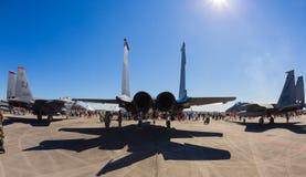 F-15老鹰喷气机飞机 免版税库存图片