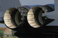 F-15 airplane engine. Display static on airshow, Belgium royalty free stock photos