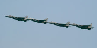 F-15 Eagle formation Royalty Free Stock Photo