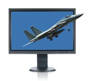 F 15 Eagle and Monitor Stock Photos
