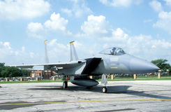 F-15 Fighter Jet. An F-15 Fighter Jet at a military base Stock Image