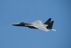 F-15 Strike Eagle jet. Modern US Air Force fighter jet royalty free stock photo