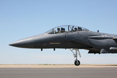 F-15 taxi cockpit view Royalty Free Stock Photos