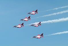F-16形成 免版税库存照片