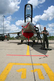 F-16飞行员 库存图片