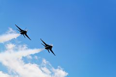 F-16 δύο Στοκ Εικόνες