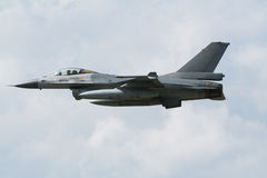 F-16. Military F-16 jet plane low flyby Stock Photo