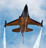 F-16. Inverted F-16 @ Waddington Airshow Royalty Free Stock Images