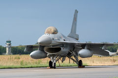 F-16 azul Foto de Stock Royalty Free