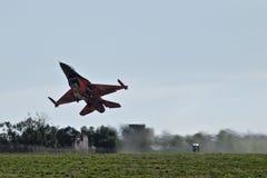 F-16 de forces aériennes des Pays-Bas Demoteam Photo libre de droits