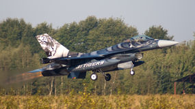 F-16 del belga Imagen de archivo