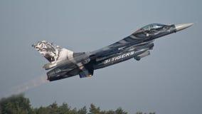 F-16 del belga Imagenes de archivo