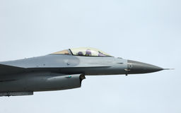 F-16 Fighter Falcon In Airshow Stock Photography