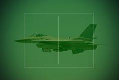 F-16 fighter jet seen through Stock Photos