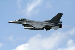 F-16 fighter takeoff Royalty Free Stock Images