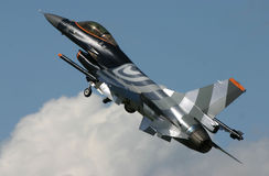 F-16 Fighting Falcon. In demo livery Royalty Free Stock Photo