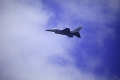 F 16 flies at Kaneohe Bay airshow Royalty Free Stock Image