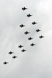 F-16 flypast Royalty Free Stock Photography