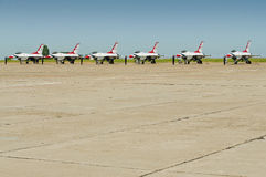 F-16 formation at ground Royalty Free Stock Photography