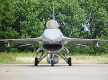 F-16 head on. Front view of a F-16 Fighting Falcon Stock Images