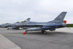 F-16 holandês da força aérea Fotos de Stock