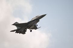 F-16 Jet Landing. An F-16 Jet coming in for a landing Royalty Free Stock Photos