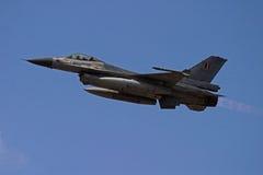 F-16 Nabrander Royalty-vrije Stock Foto