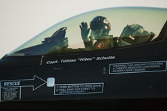 F-16 olandese dell'aeronautica - Radom Airshow - Polonia Immagine Stock