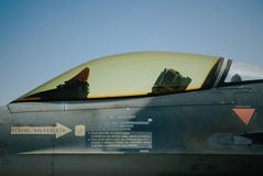 F-16 profile Stock Photo