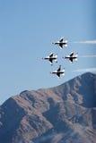 F-16 Thunderbird fighter jets Stock Photo