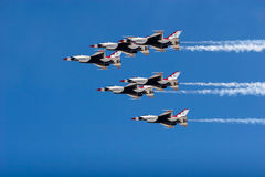 F-16 Thunderbird fighter jets Stock Image