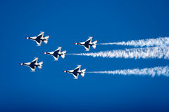 F-16 Thunderbird fighter jets Stock Photo