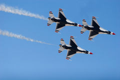 F-16 Thunderbird fighter jets Royalty Free Stock Photography