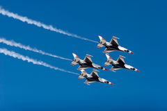 F-16 Thunderbird fighter jets Stock Photography