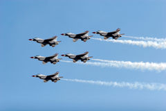 F-16 Thunderbird fighter jets Stock Photos