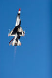 F-16 Thunderbird figther jet royalty free stock photos