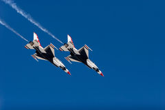 F-16 Thunderbirds flying Royalty Free Stock Image