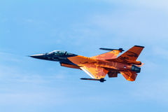 F-16 van vliegtuigen het Team van de Manifestatie stock afbeelding