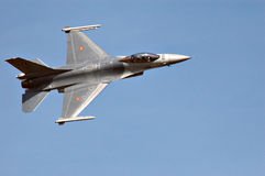 F-16, visión superior Imágenes de archivo libres de regalías