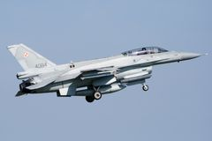 F-16D Viper Lizenzfreies Stockbild
